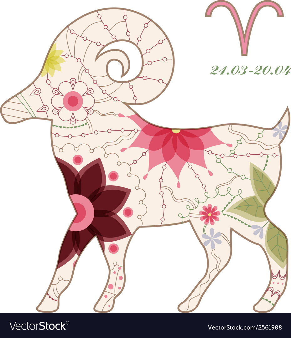 Aries vintage vector | Price: 1 Credit (USD $1)