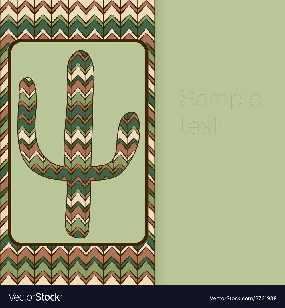 Background pattern with cactus use as backdrop vector | Price: 1 Credit (USD $1)