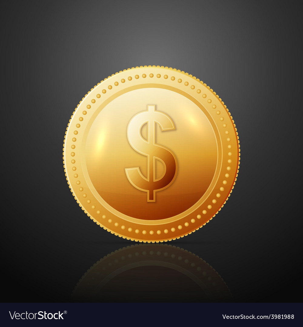 Coin dollar vector | Price: 1 Credit (USD $1)
