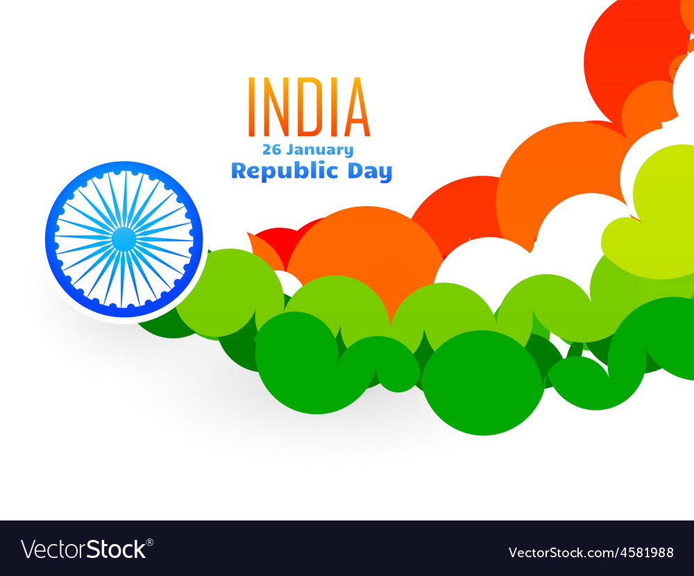 Creative indian flag design made with circles in vector | Price: 1 Credit (USD $1)