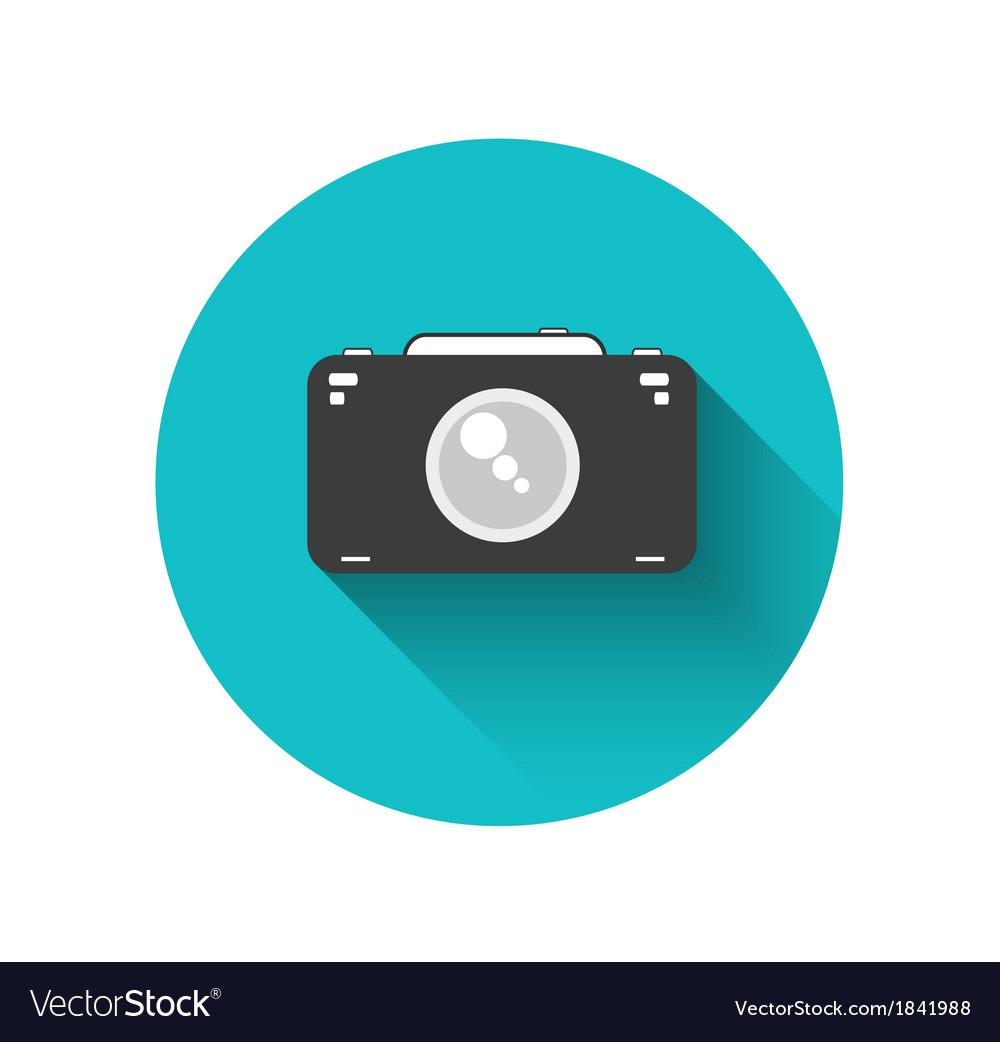 Flat camera vector | Price: 1 Credit (USD $1)