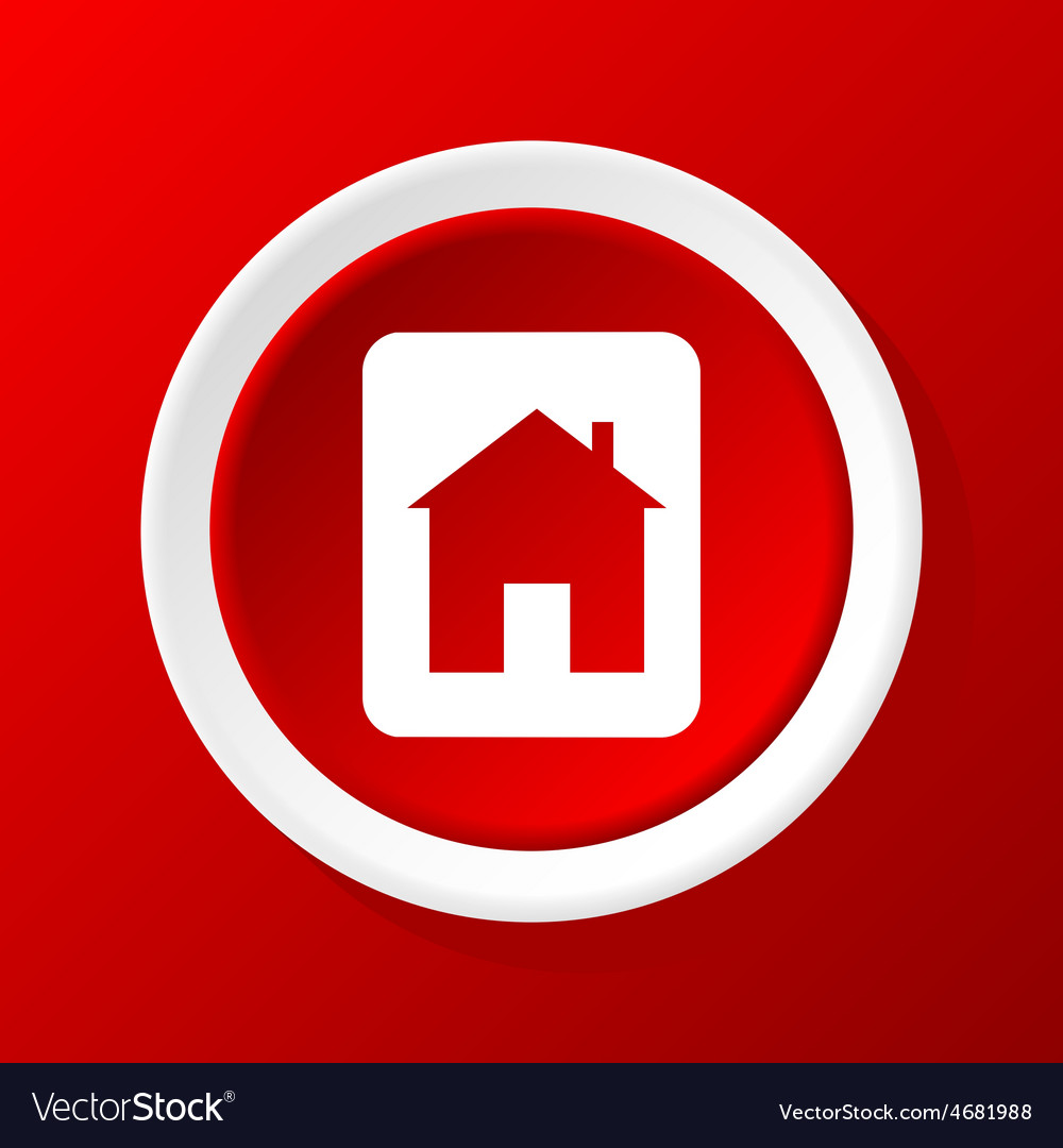 House sign icon on red vector   Price: 1 Credit (USD $1)