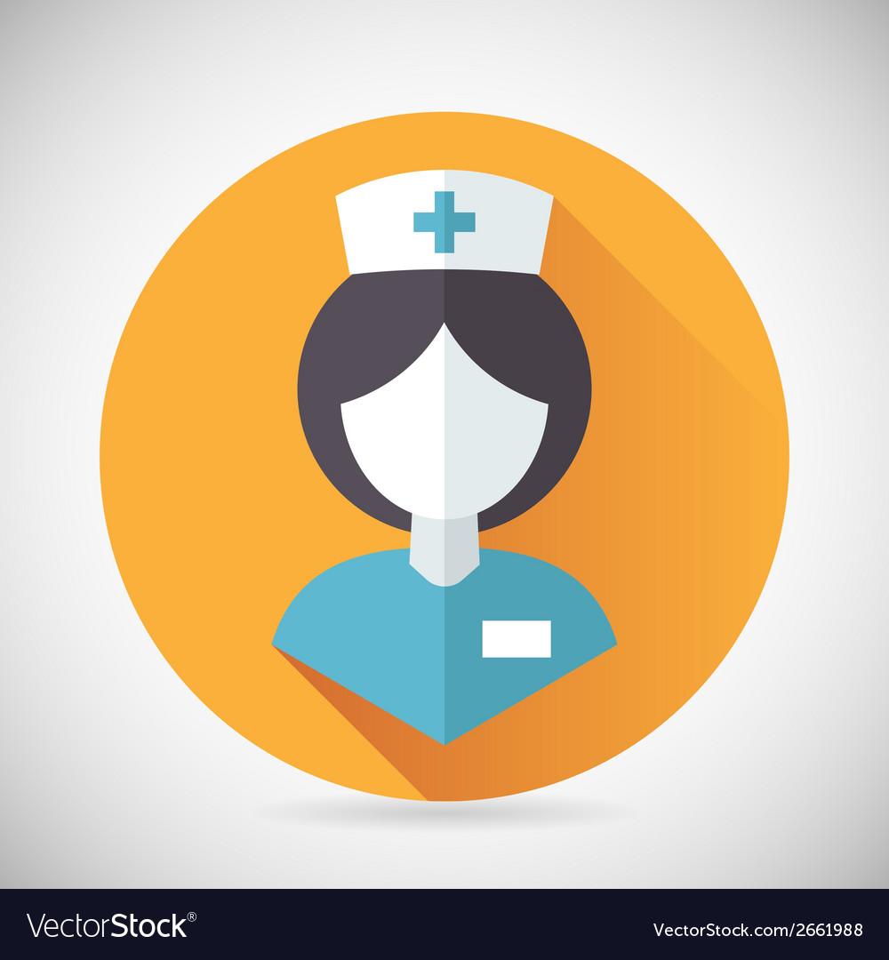 Medical treatment nurse symbol female physician vector   Price: 1 Credit (USD $1)