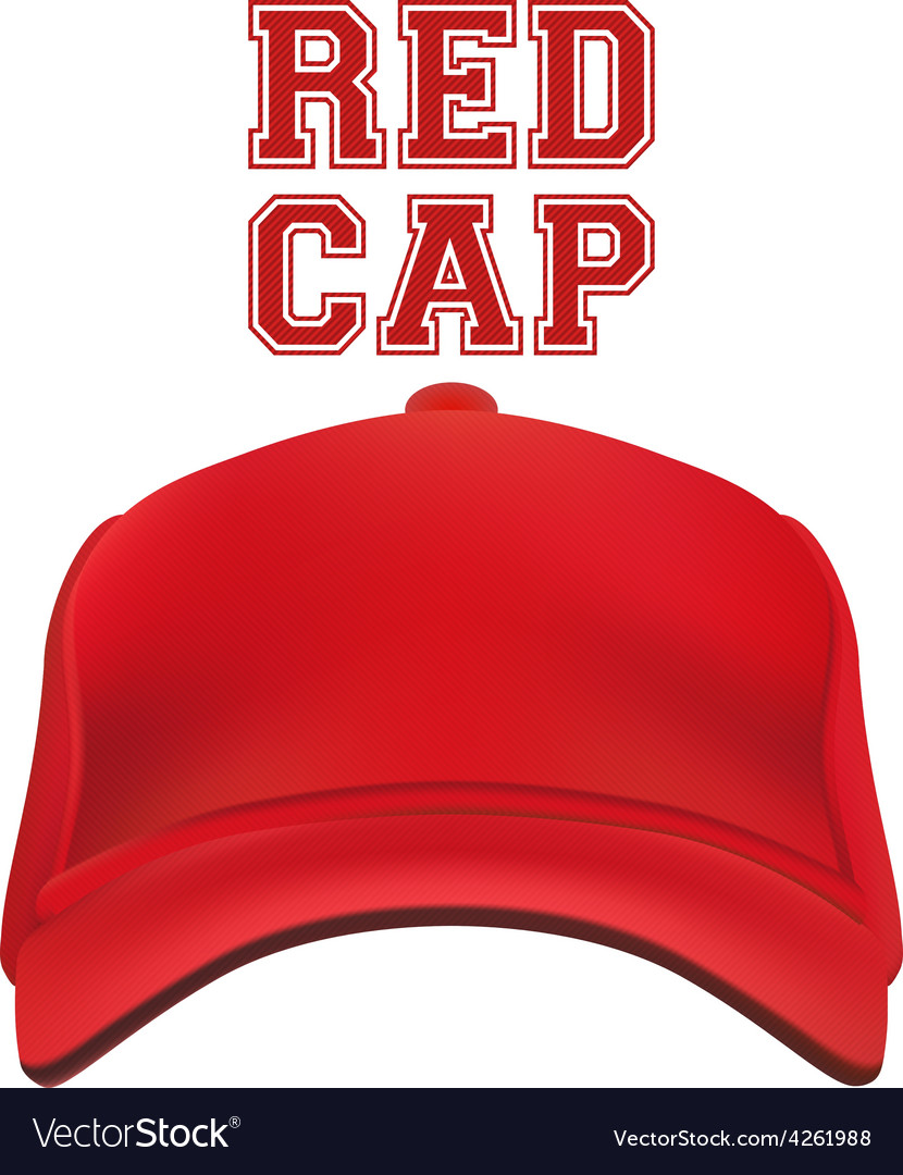 Red cap isolated on white vector | Price: 1 Credit (USD $1)