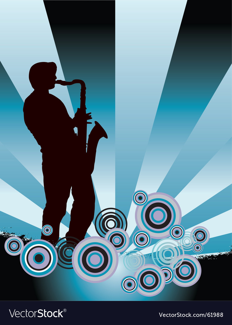 Sax grunge vector | Price: 1 Credit (USD $1)