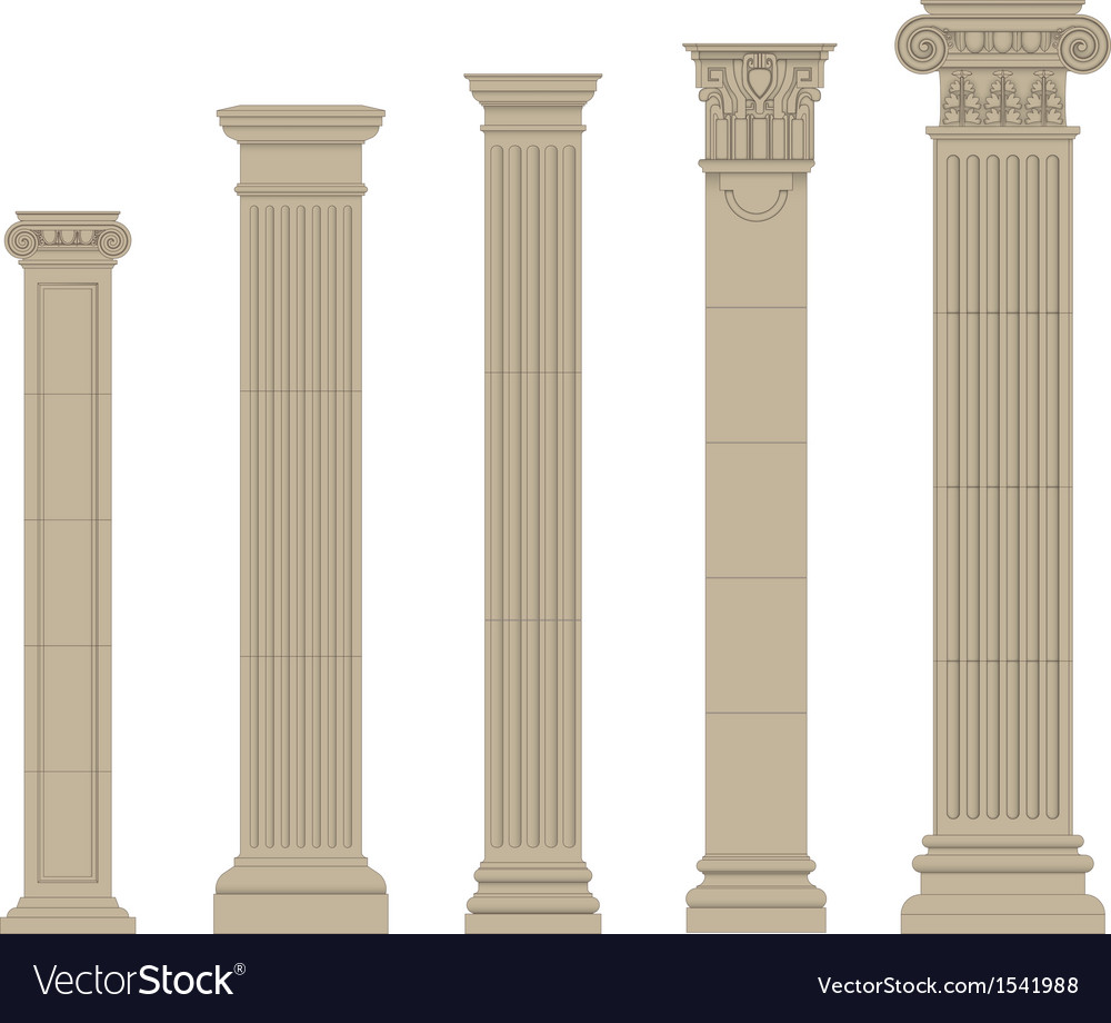 Set of column 2 vector | Price: 1 Credit (USD $1)
