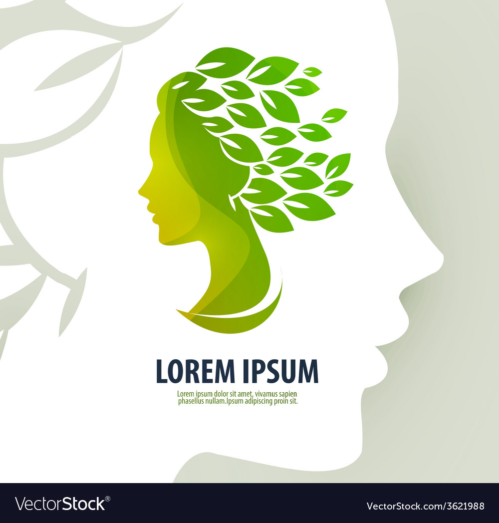 Woman profile beauty  logo icon sign emblem vector | Price: 1 Credit (USD $1)