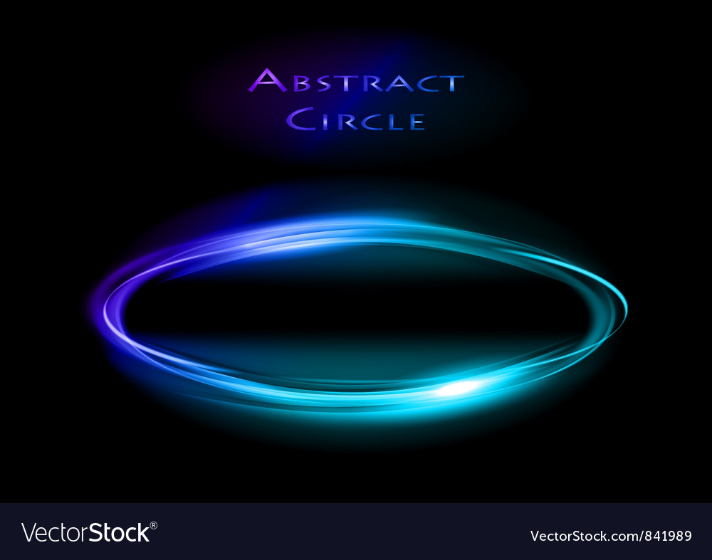 Abstract circle on black blue vector | Price: 1 Credit (USD $1)
