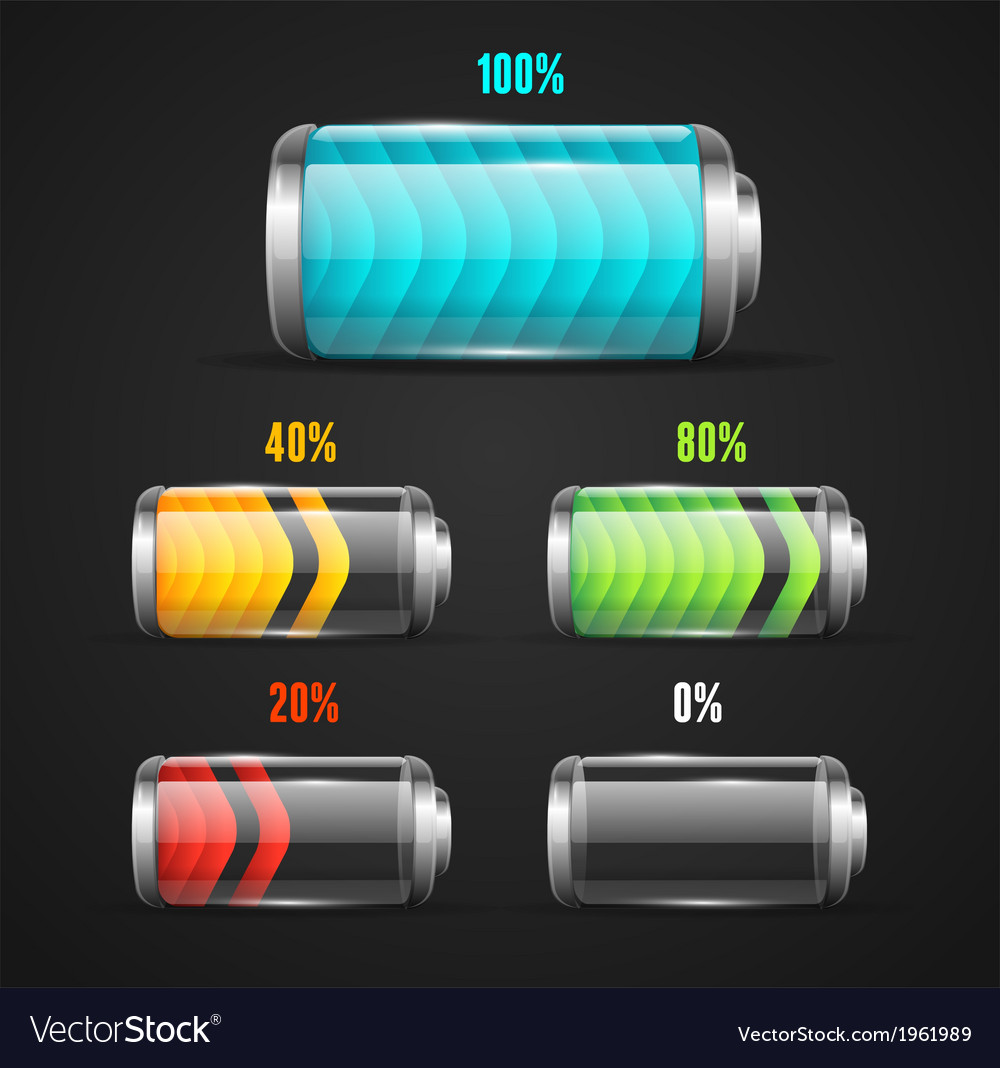 Battery level indicator vector | Price: 1 Credit (USD $1)