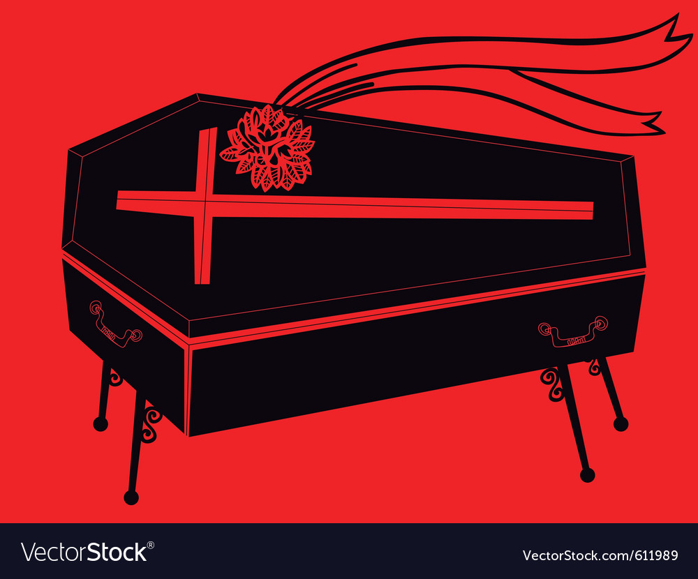 Black coffin vector | Price: 1 Credit (USD $1)