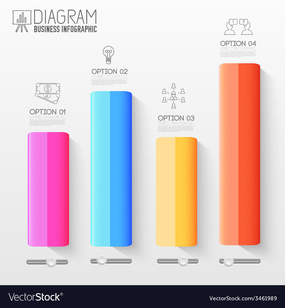 Business flat infographic template with text vector | Price: 1 Credit (USD $1)