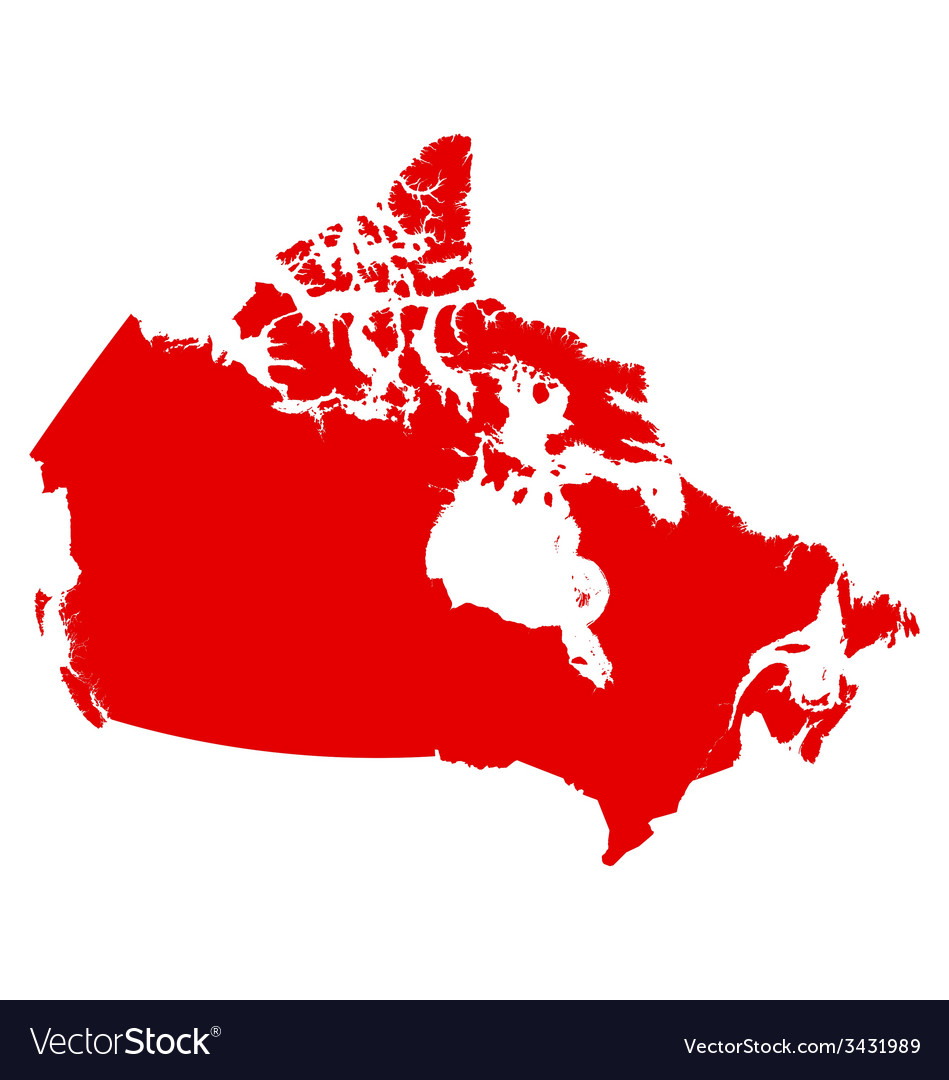 Canada map vector | Price: 1 Credit (USD $1)