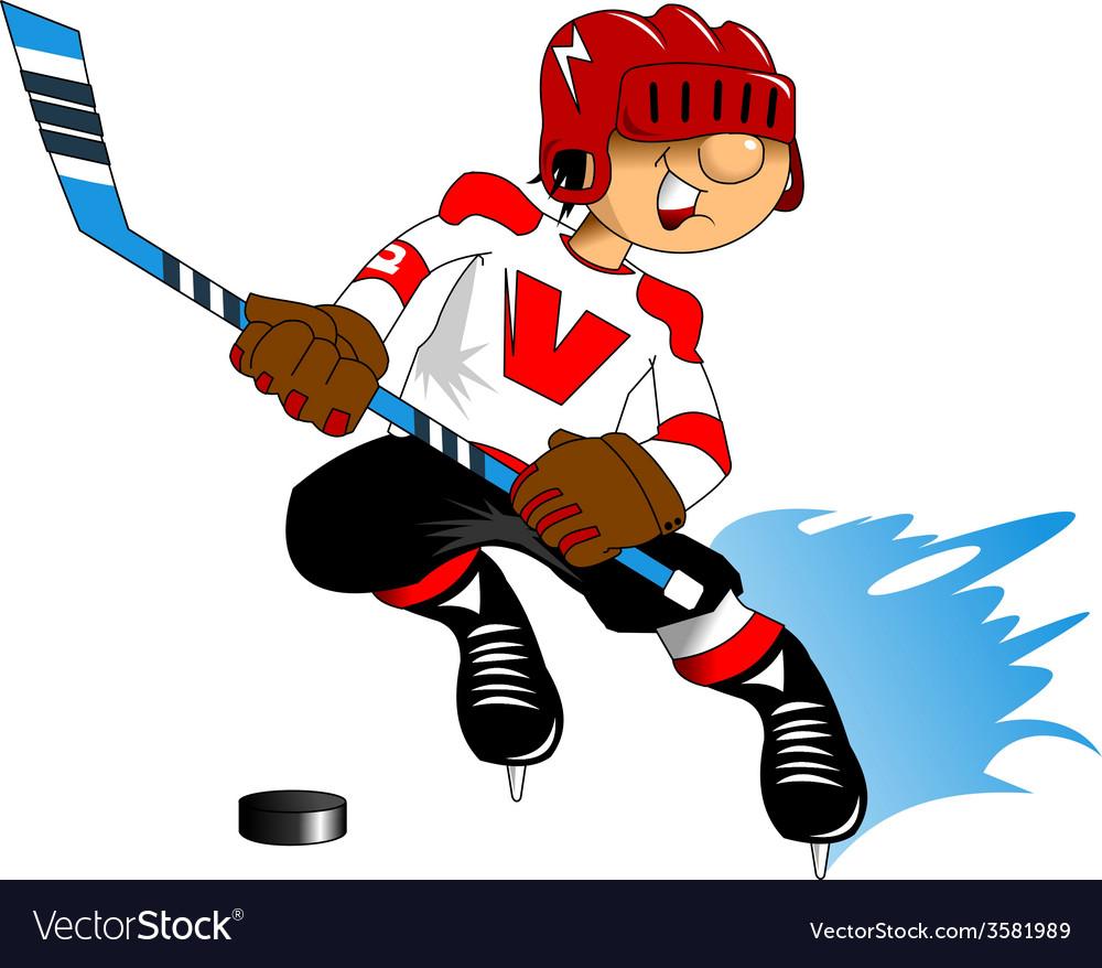 Cartoon sports player vector