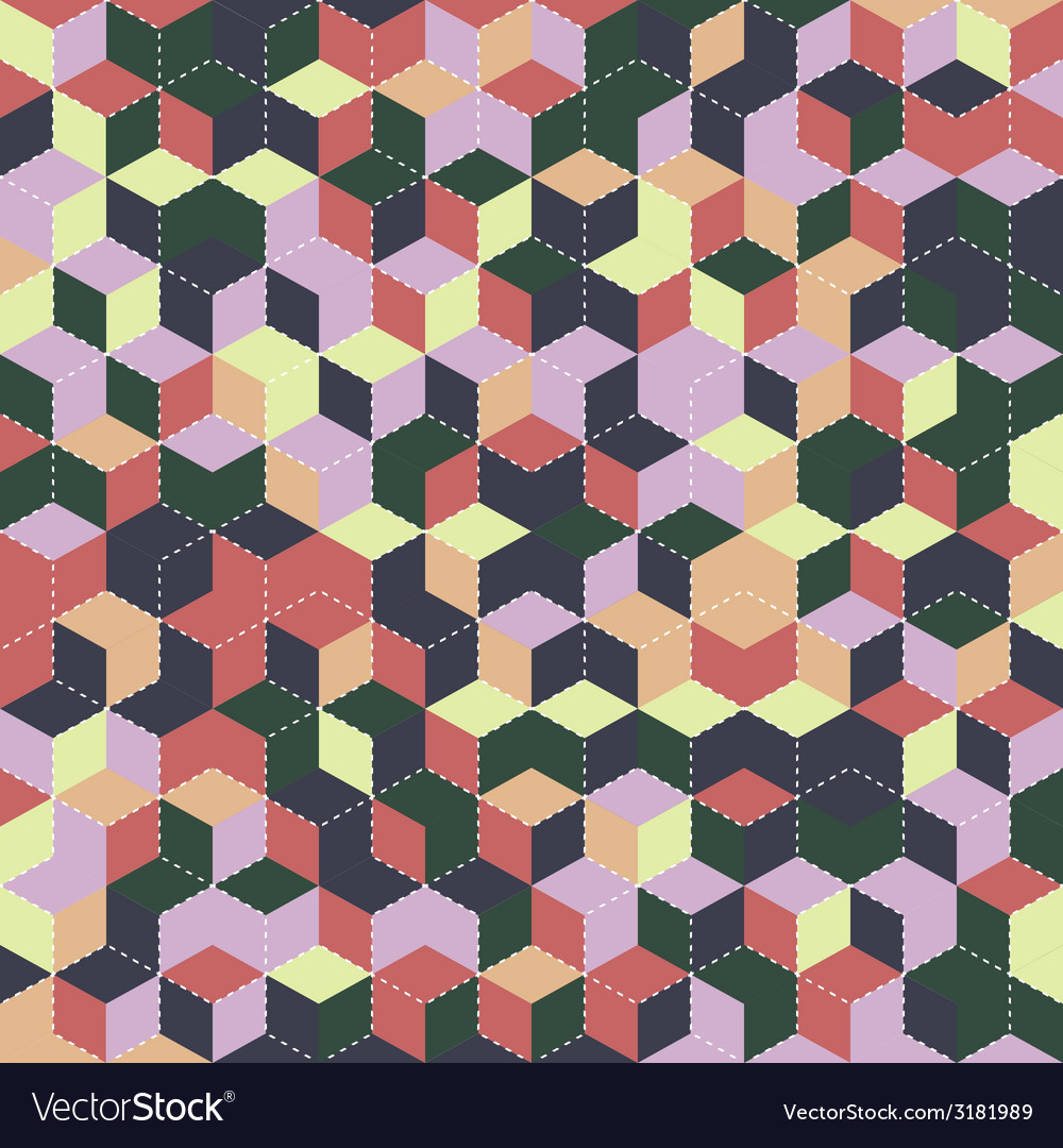 Cube seamless pattern vector | Price: 1 Credit (USD $1)