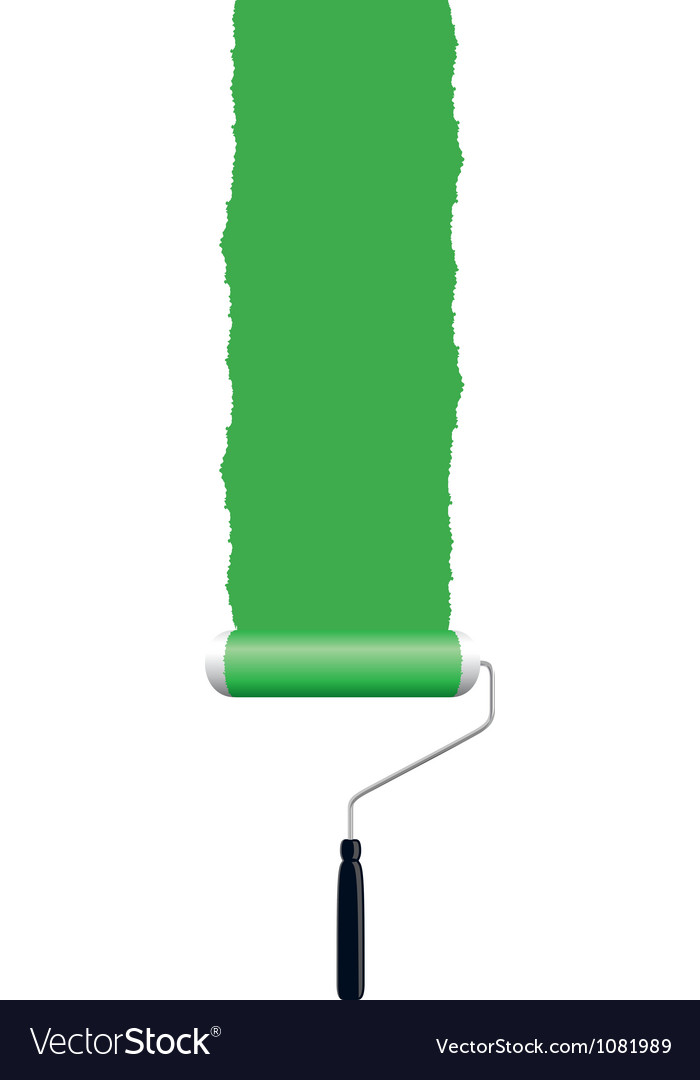 Paint roller green vector | Price: 1 Credit (USD $1)