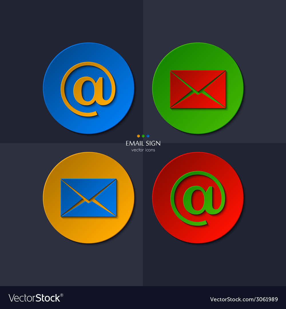 Set of email icon vector | Price: 1 Credit (USD $1)