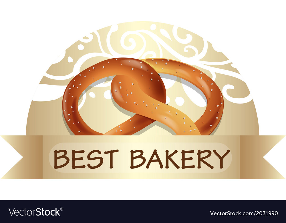 A bread with a best bakery label vector | Price: 1 Credit (USD $1)