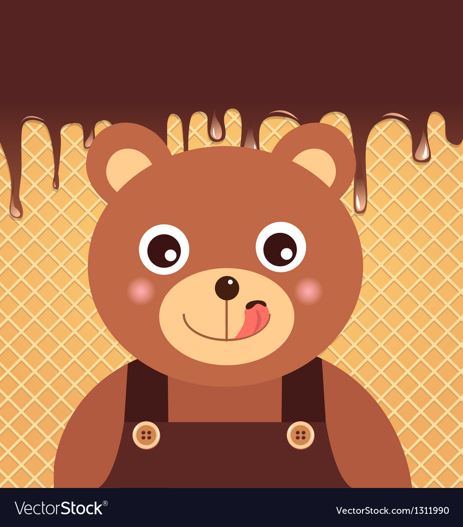Bear chocolate vector | Price: 1 Credit (USD $1)