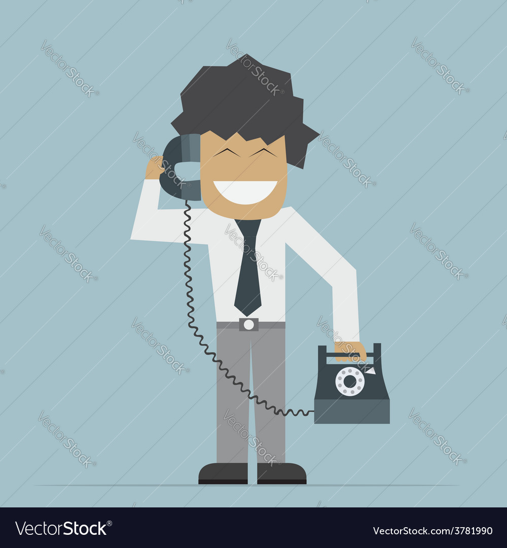 Businessman talking on phone vector | Price: 1 Credit (USD $1)