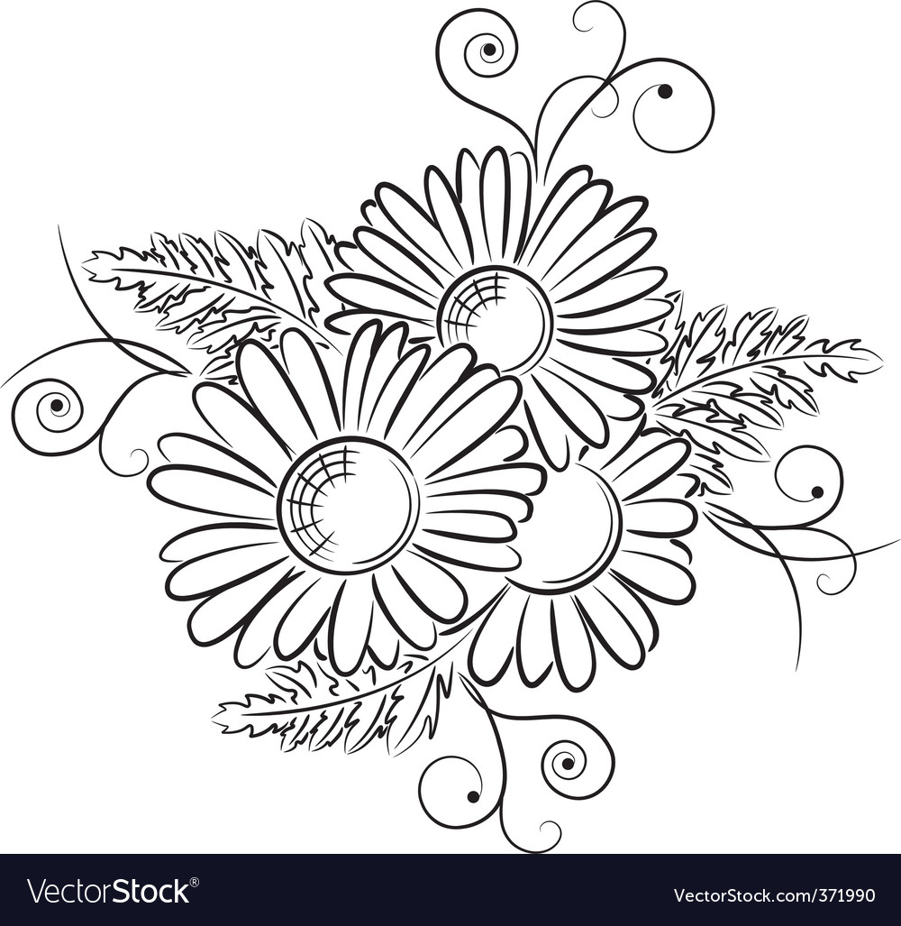 Daisy vector | Price: 1 Credit (USD $1)
