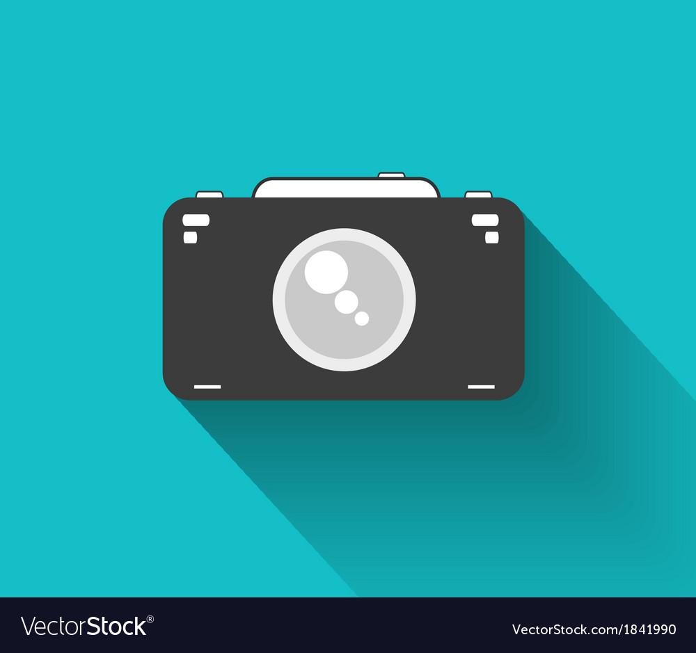 Flat camera vector | Price: 1 Credit (USD $1)