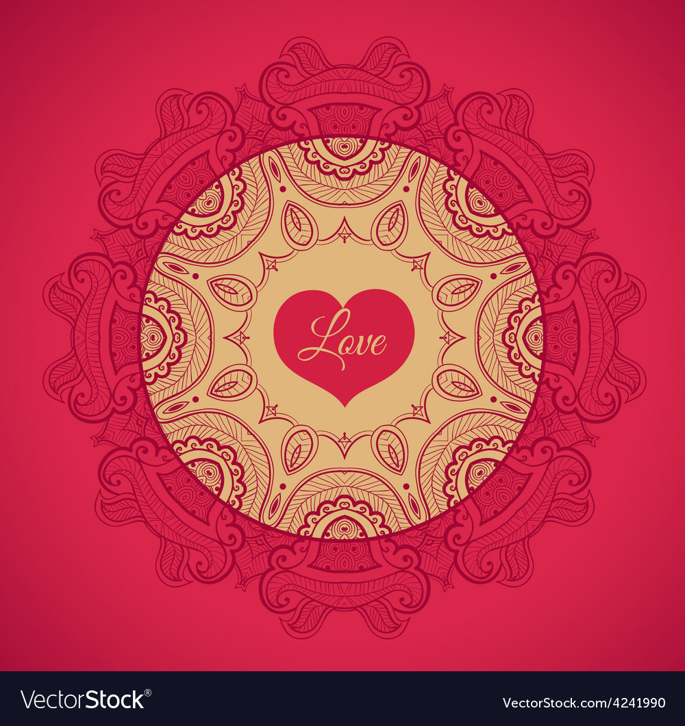 Greeting card with love vector | Price: 1 Credit (USD $1)
