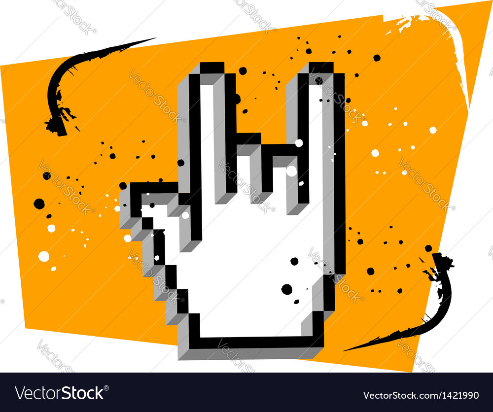 Hand cursor metal music vector   Price: 1 Credit (USD $1)