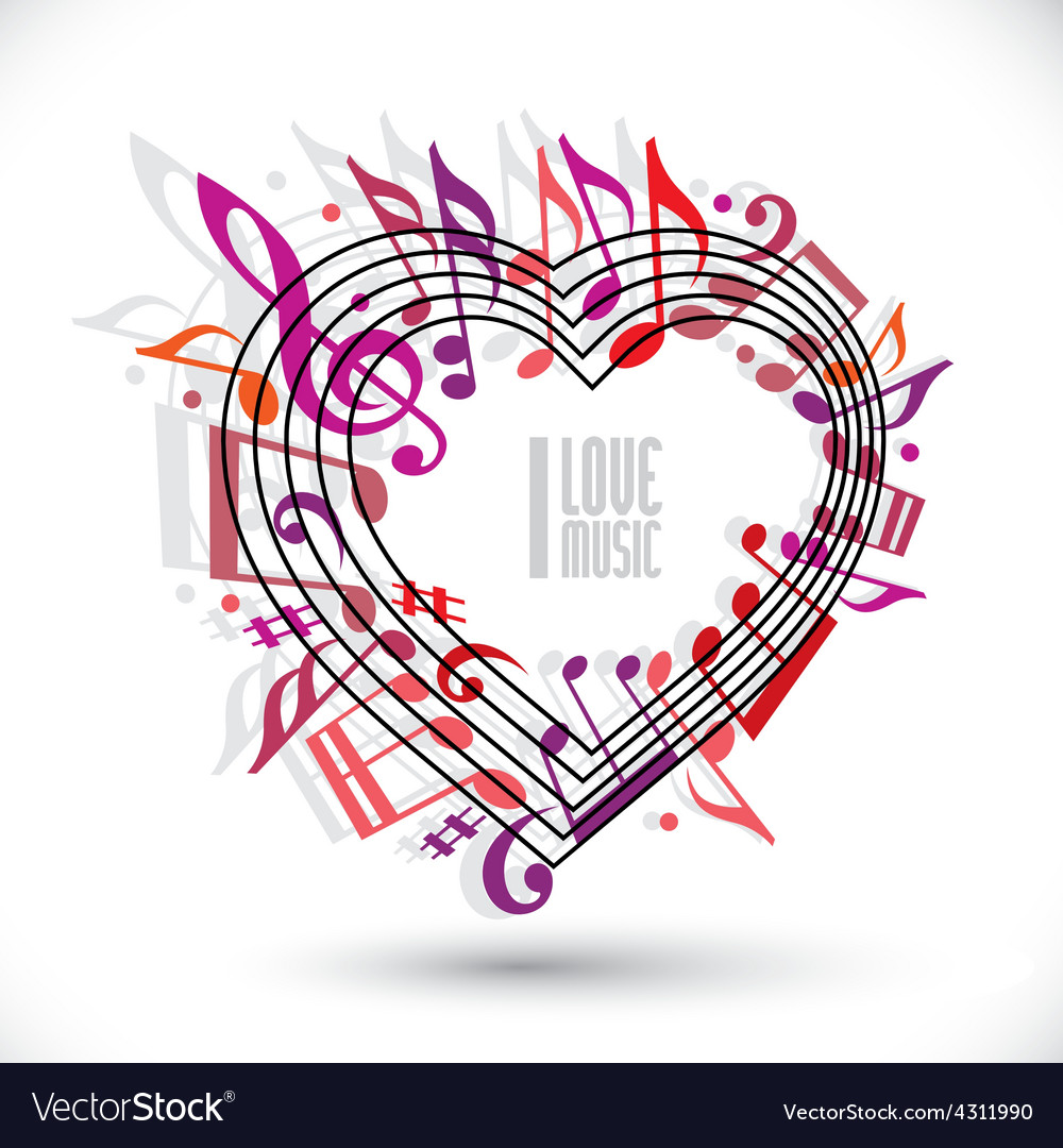 I love music template in red pink and violet vector   Price: 1 Credit (USD $1)