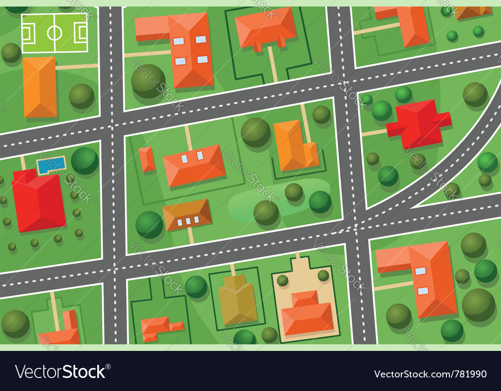 Map of village vector | Price: 1 Credit (USD $1)