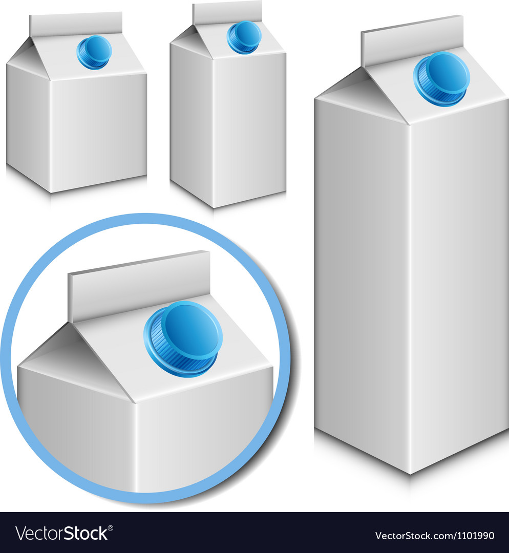 Milk carton set vector | Price: 1 Credit (USD $1)