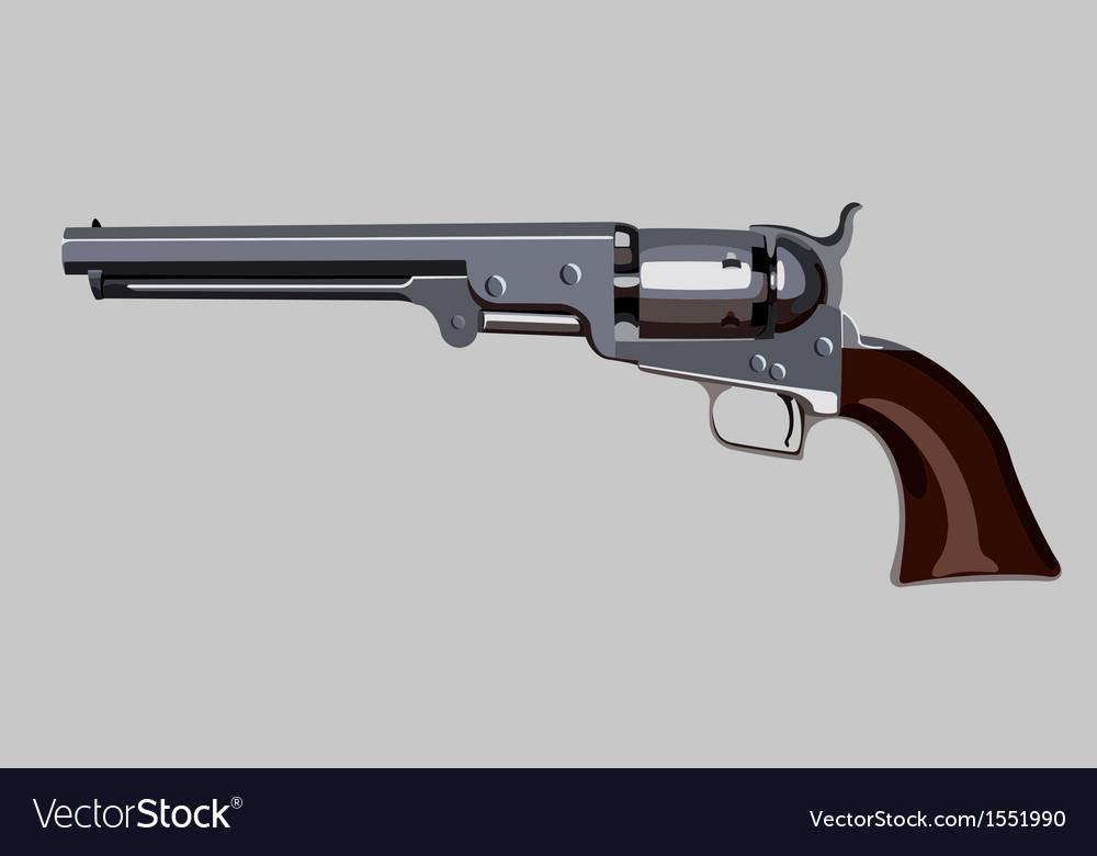 Old revolver vector | Price: 1 Credit (USD $1)