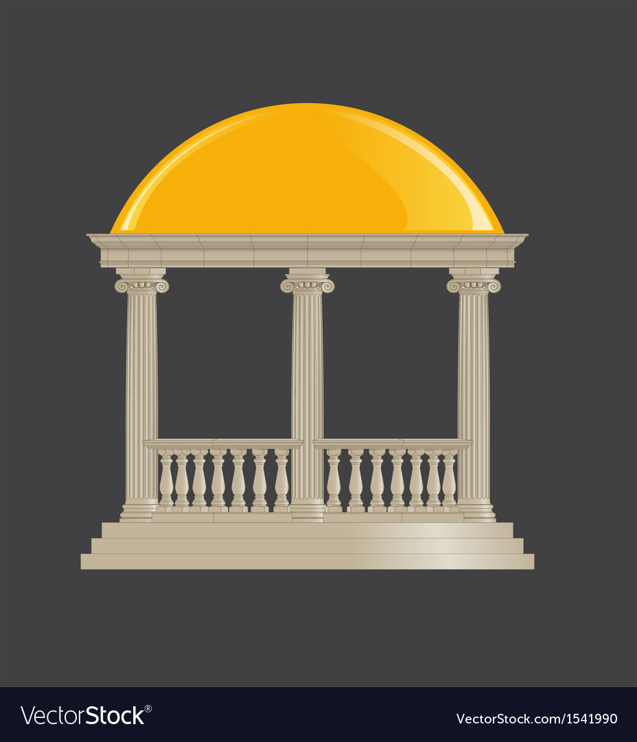 Rotunda classic ionic order vector | Price: 1 Credit (USD $1)