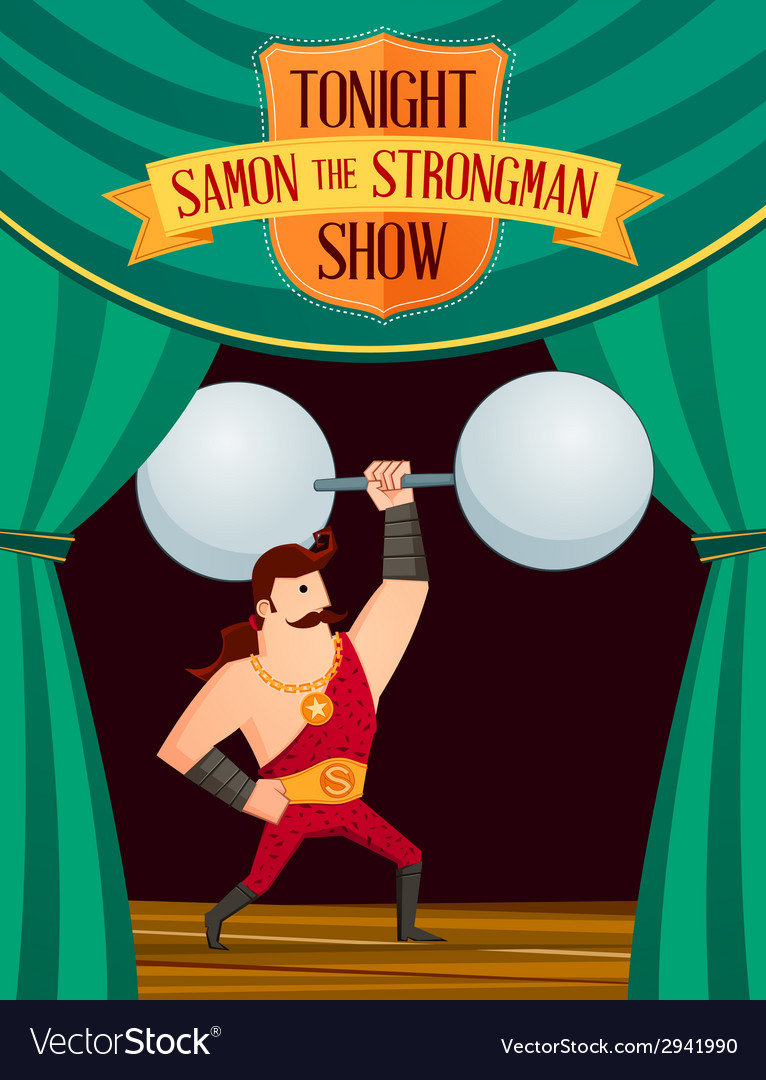 Samon the strongman vector | Price: 1 Credit (USD $1)
