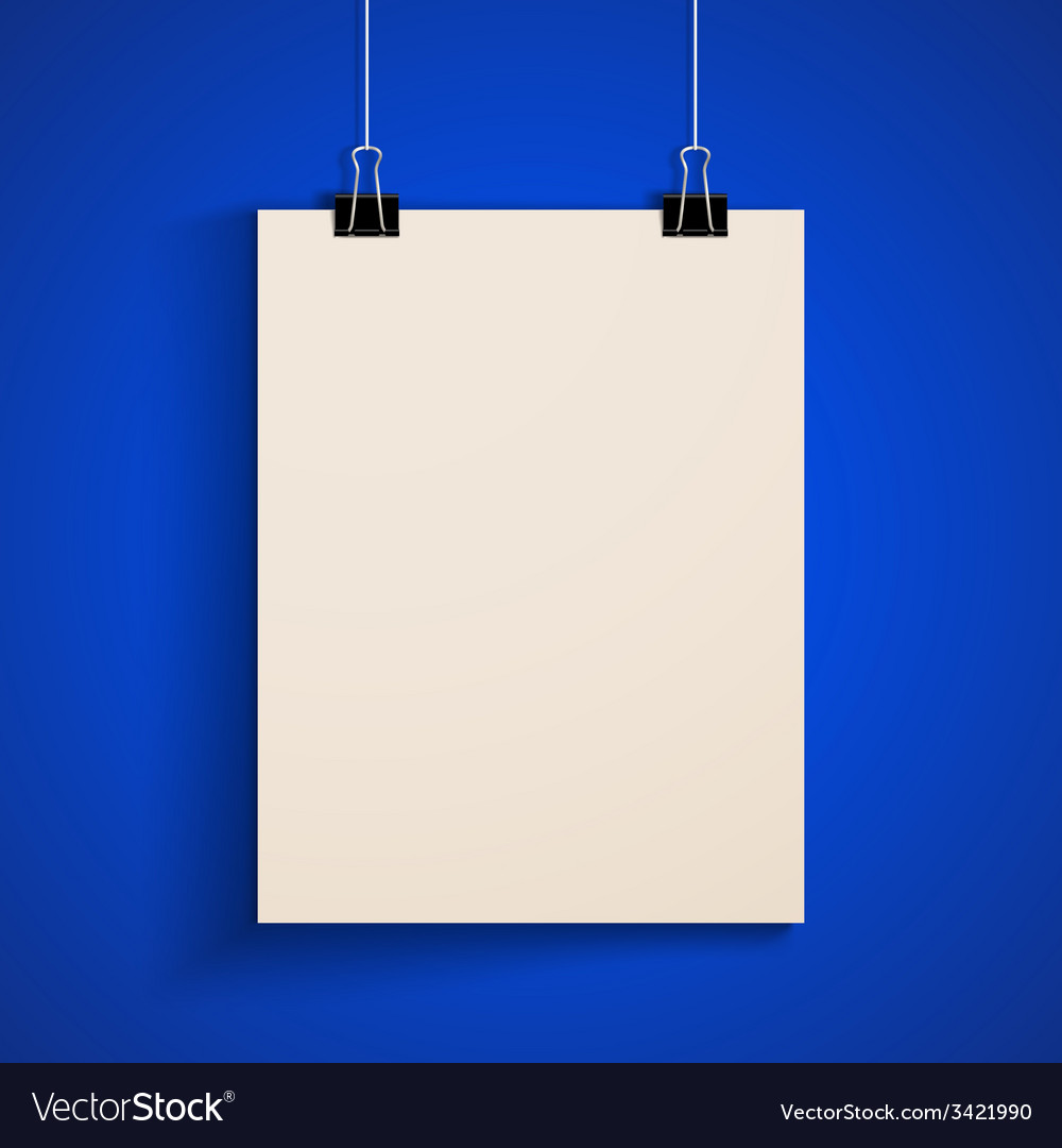 Template of a paper sheet poster mock-up vector | Price: 1 Credit (USD $1)