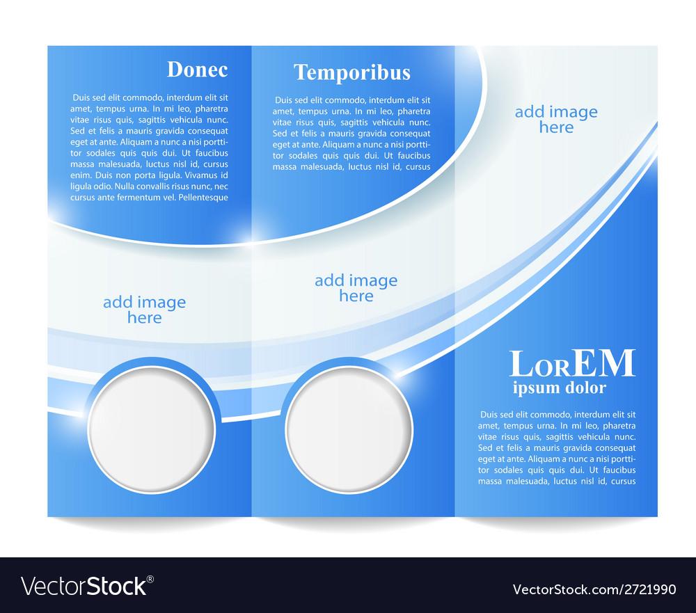 Tri-fold brochure template vector | Price: 1 Credit (USD $1)