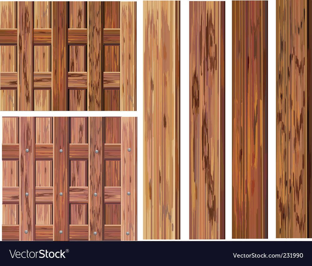 Wood textures vector | Price: 1 Credit (USD $1)
