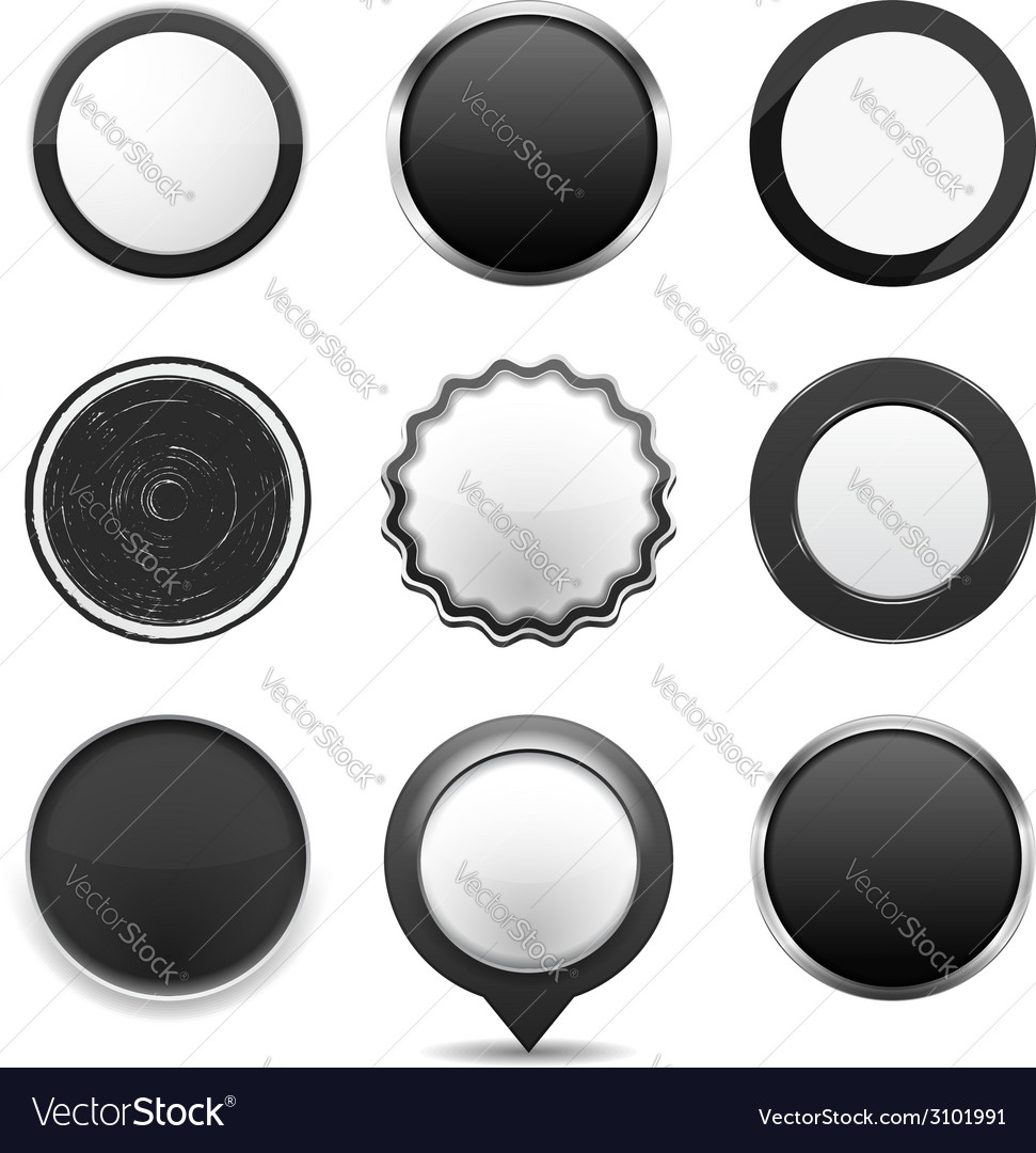 Black buttons vector | Price: 1 Credit (USD $1)