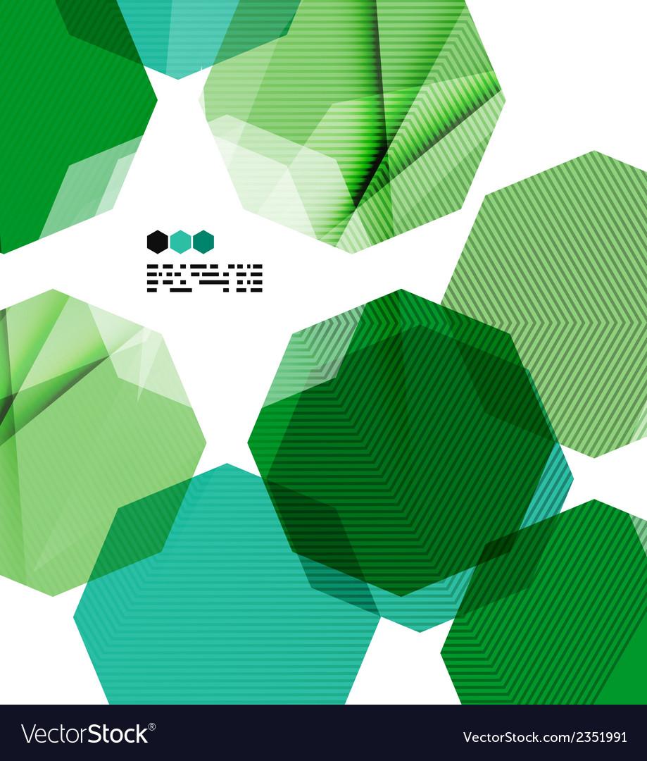 Bright green geometric modern design template vector | Price: 1 Credit (USD $1)