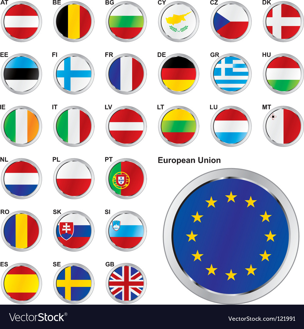 Eu flags vector | Price: 1 Credit (USD $1)