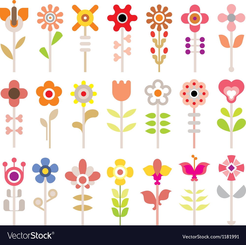 Flower collection vector | Price: 1 Credit (USD $1)