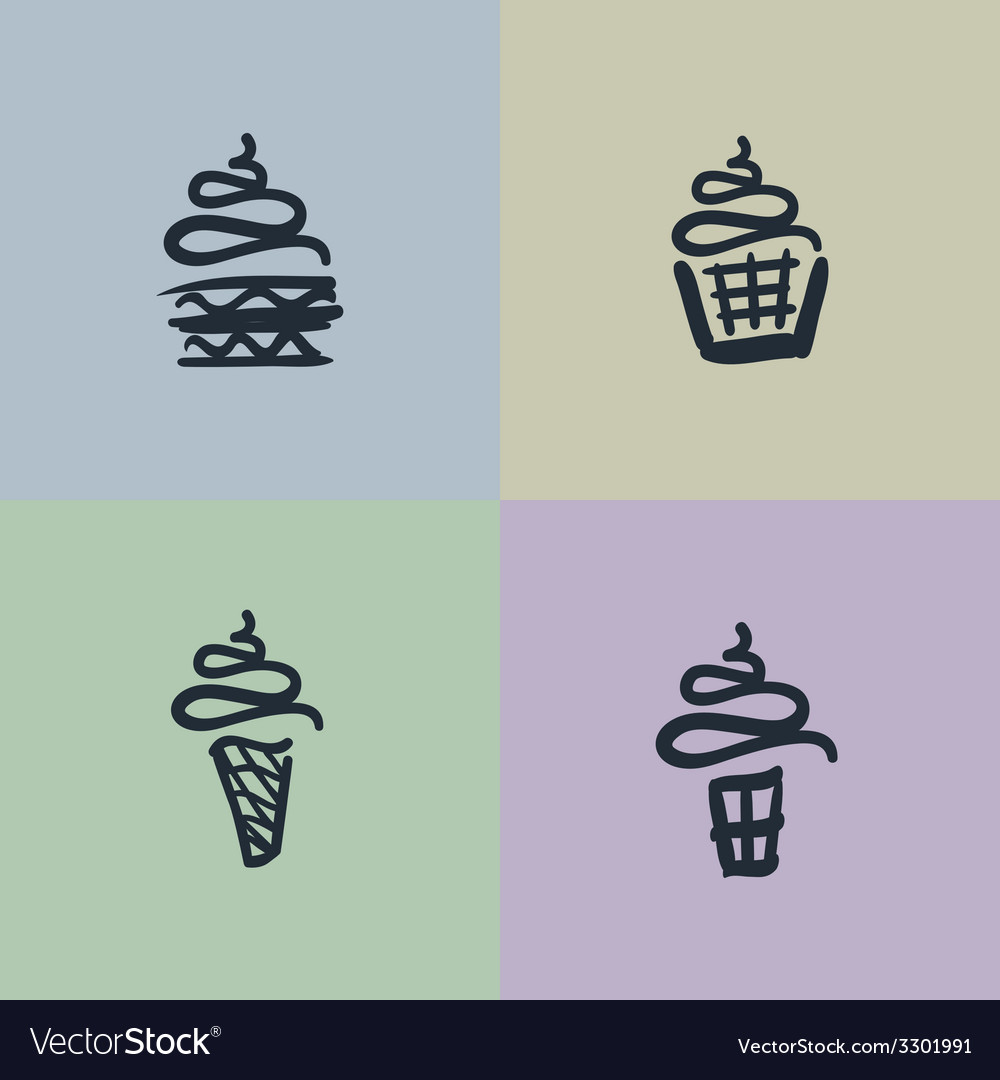 Sketch set of sweets vector | Price: 1 Credit (USD $1)