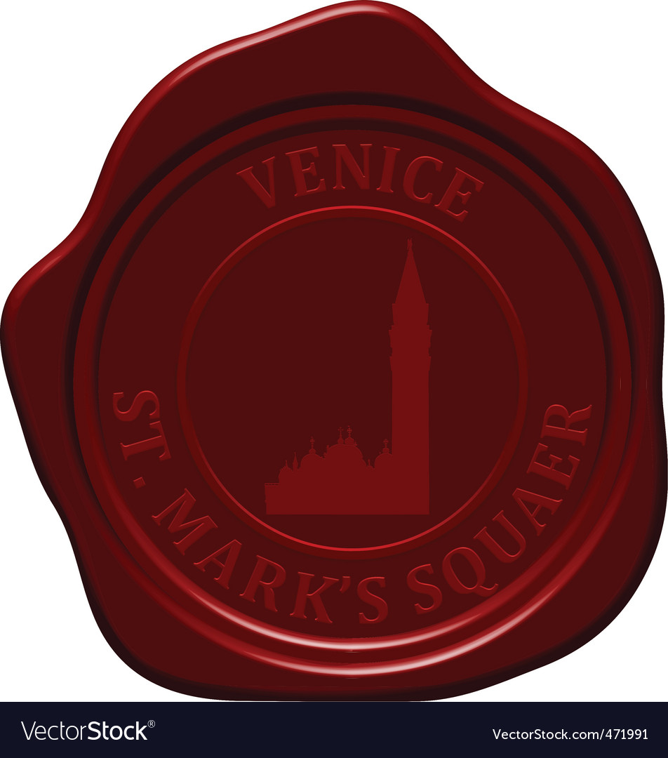 St marks square sealing wax vector | Price: 1 Credit (USD $1)