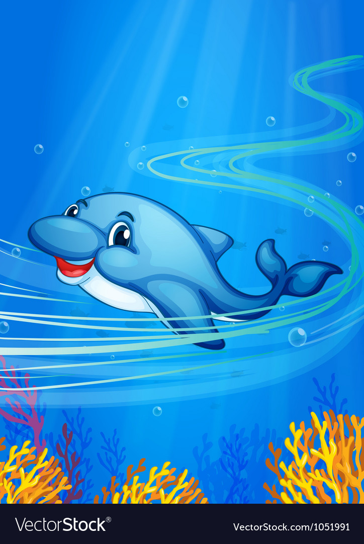 Underwater dolphin vector | Price: 3 Credit (USD $3)