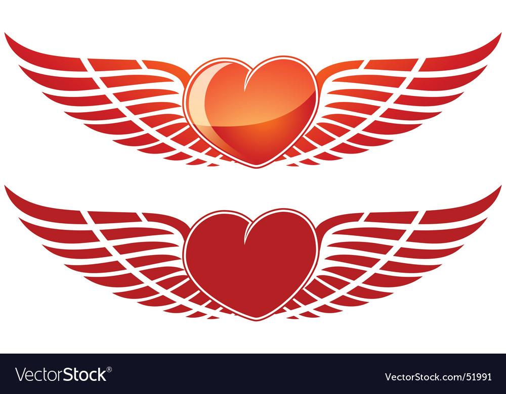 Valentine wing heart vector | Price: 1 Credit (USD $1)