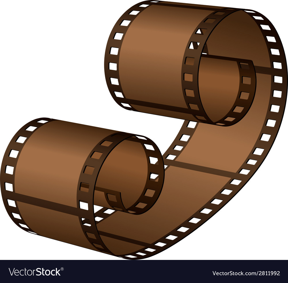 3d roll film strip vector | Price: 1 Credit (USD $1)