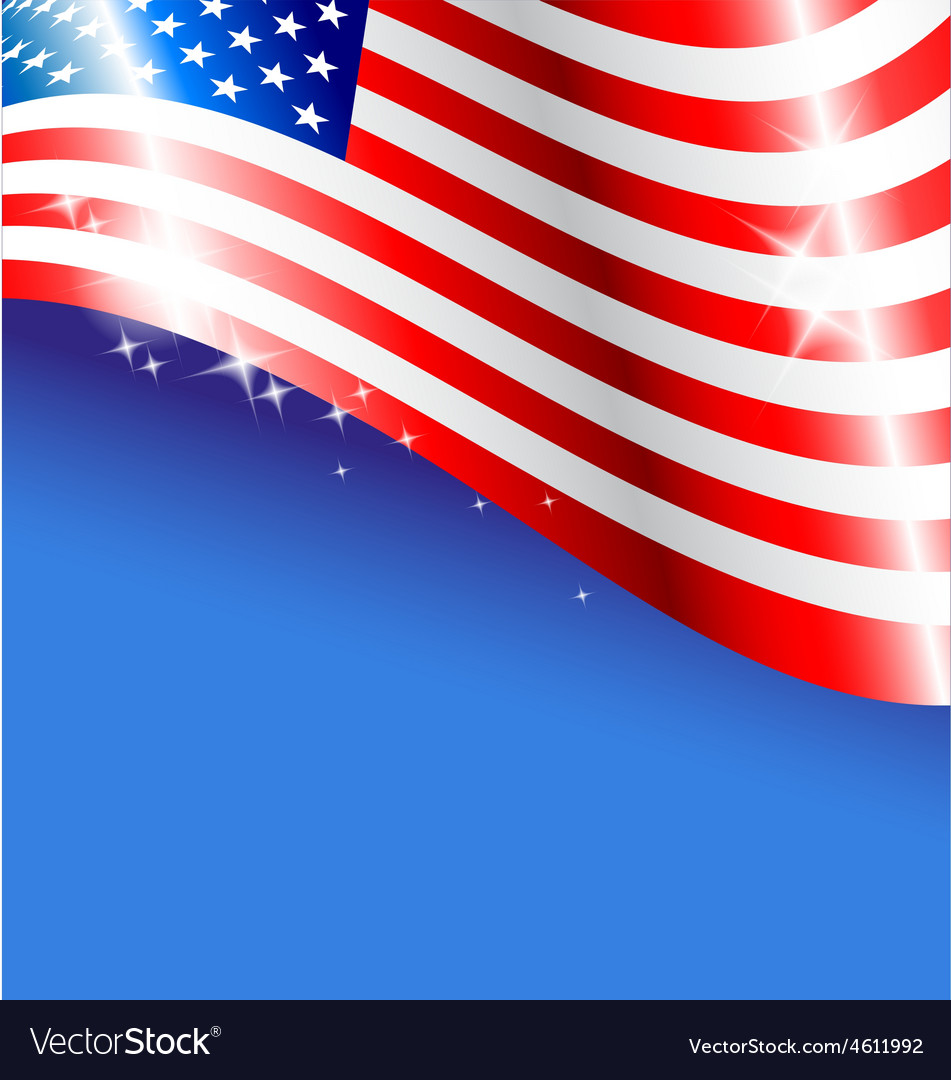 Abstract american flag background for independence vector | Price: 1 Credit (USD $1)