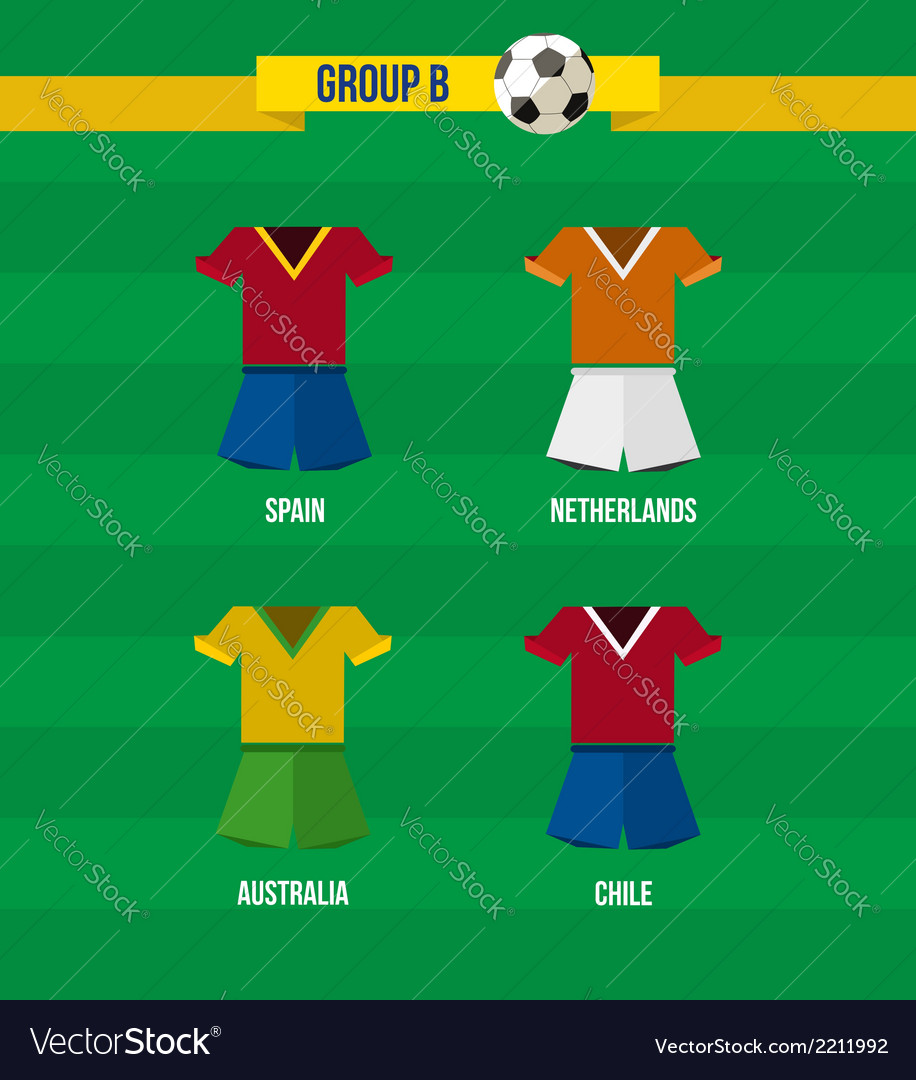 Brazil soccer championship 2014 group b team vector | Price: 1 Credit (USD $1)