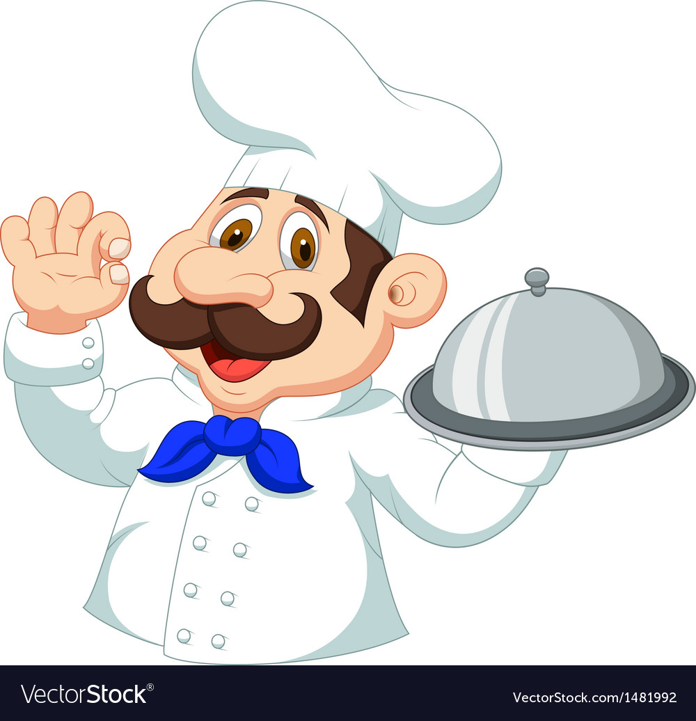 Chef cartoon with ok sign vector | Price: 1 Credit (USD $1)