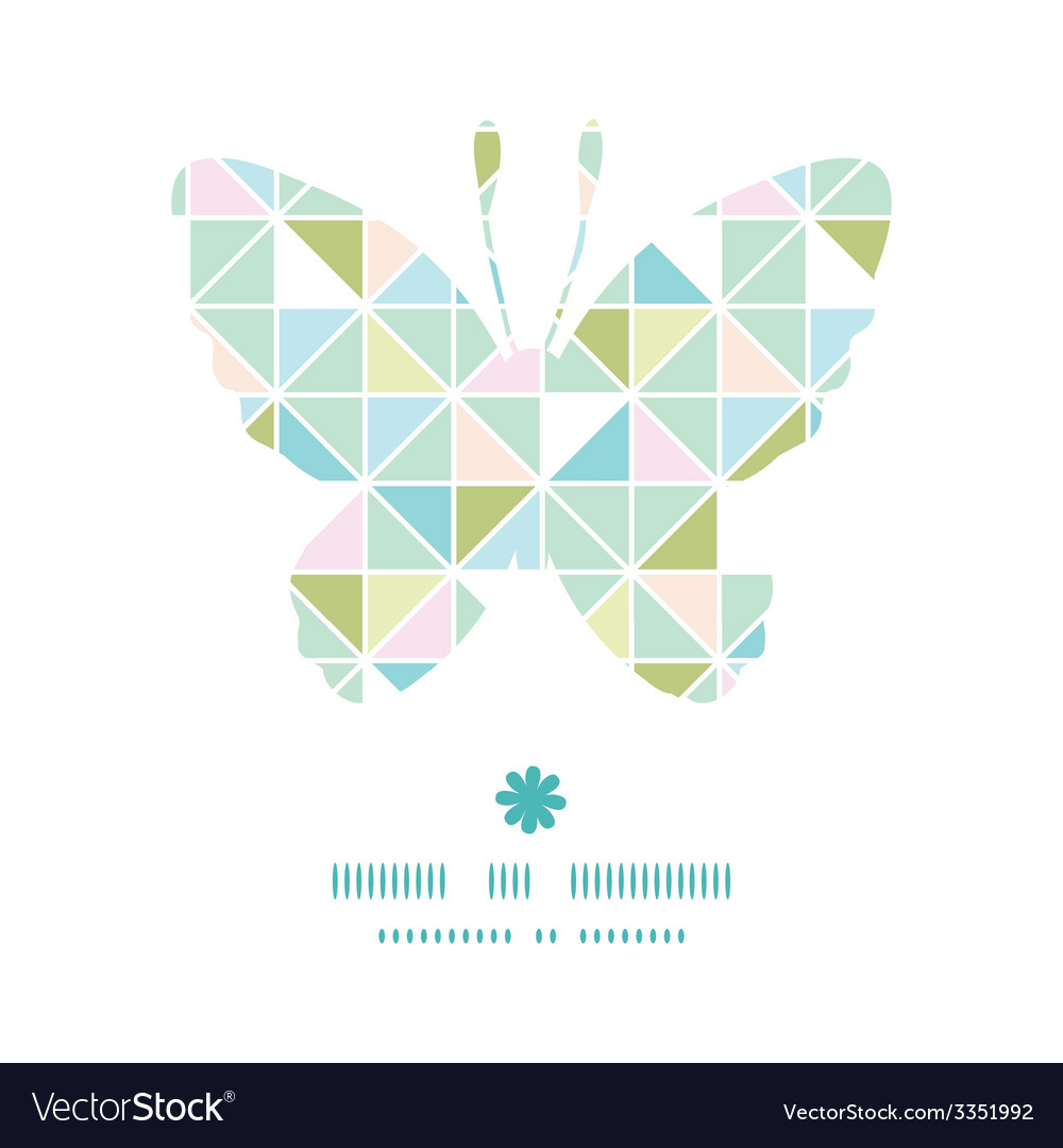 Colorful pastel triangle texture butterfly vector | Price: 1 Credit (USD $1)