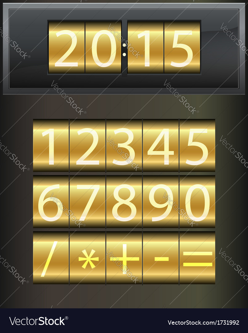 Countdown timer set of white digital numbers vector | Price: 1 Credit (USD $1)